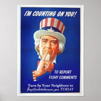 """¡""""Divulgue los comentarios a pescado! """" Posters"""
