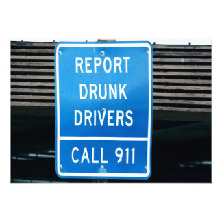 Divulgue los conductores borrachos invitación