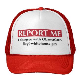 Divulgúeme - discrepo con ObamaCare Gorra