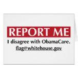 Divulgúeme - discrepo con ObamaCare Tarjeta