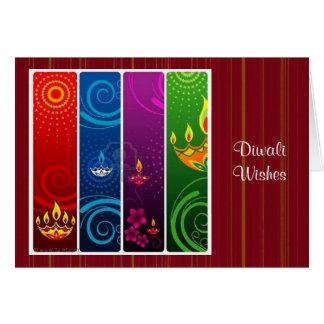 Diwali 5 tarjeta de felicitación