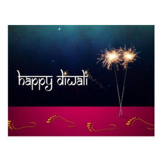 Diwali chispeante - postal