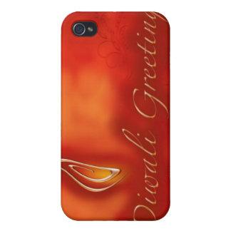 Diwali Devali Light Greetings - Warm Greeting Card Case For iPhone 4
