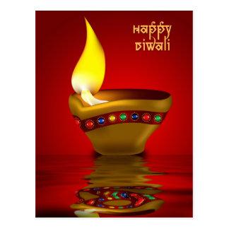 Diwali Diya - ejemplo de la lámpara de aceite Tarjetas Postales