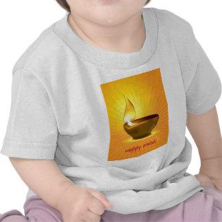 Diwali Diya - lámpara de aceite para la Camisetas