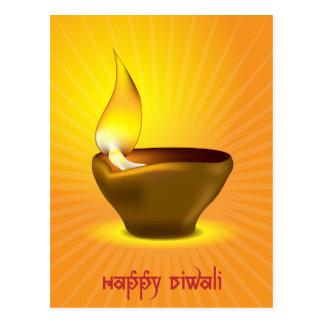 Diwali Diya - lámpara de aceite para la Tarjetas Postales