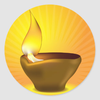 Diwali Diya - Oil lamp for dipawali celebration Classic Round Sticker