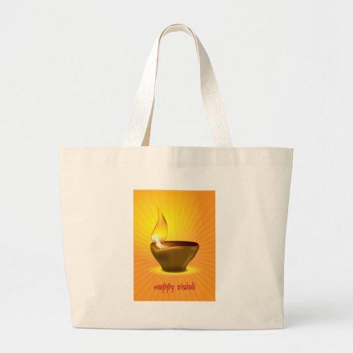 Diwali Diya - Oil lamp for dipawali celebration Large Tote Bag