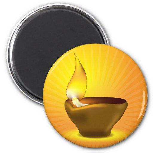 Diwali Diya - Oil lamp for dipawali celebration Refrigerator Magnet