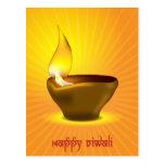 Diwali Diya - Oil lamp for dipawali celebration Postcard
