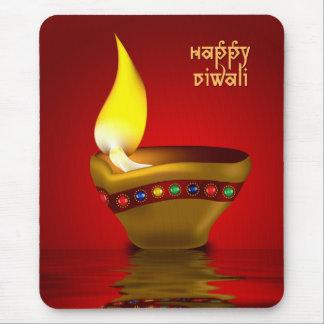 Diwali Diya - Oil lamp illustration Mousepad