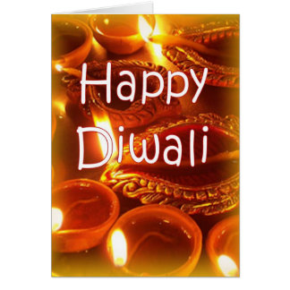 Diwali diyas card