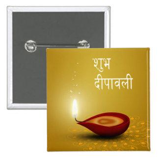 Diwali feliz Diya - botón Pins