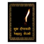 Diwali feliz en Hindi y inglés Felicitaciones