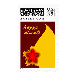 diwali feliz sello postal
