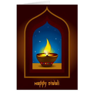 Diwali feliz tarjeta de felicitación