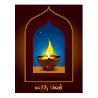 Diwali feliz postal