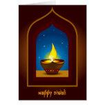 Diwali feliz tarjeton