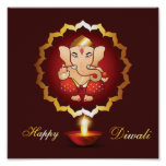 Diwali festival background poster