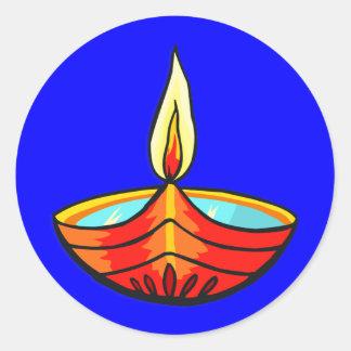 Diwali Festival Lights Round Sticker