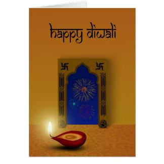 Diwali festivo - tarjeta de felicitación