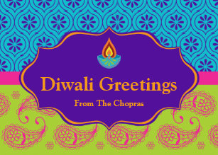 Diwali cards greeting photo cards zazzle diwali greeting card with editable text m4hsunfo