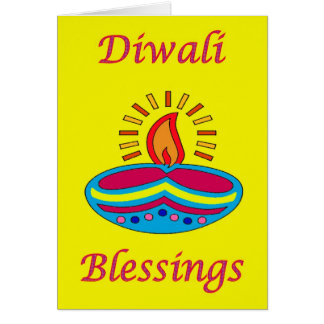Diwali Indian Festival of Light tealight candle Greeting Card