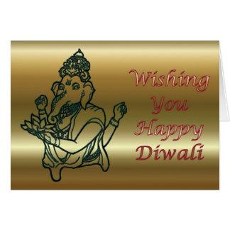 Diwali Indian Festival of Light with Ganesha Greeting Card