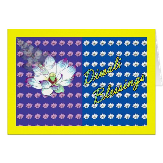 Diwali Indian Festival of Light with lotus flower Card