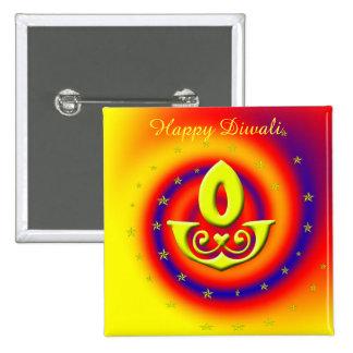Diwali Lamp Pinback Button