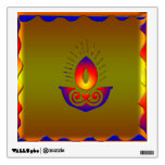 Diwali lamp room decal