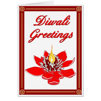 Diwali Lotus Card