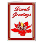 Diwali Lotus Felicitacion
