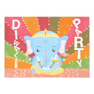 Diwali invitations announcements zazzle diwali party invitation stopboris Image collections