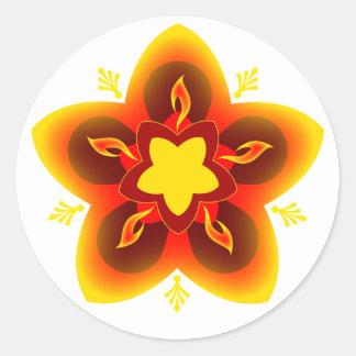 diwali rangoli classic round sticker