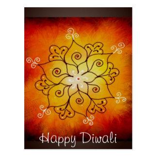 Diwali Rangoli Tarjetas Postales
