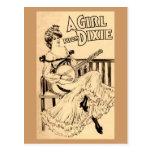 Dixe Girl Postcard