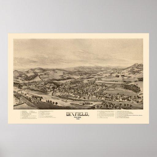 Dixfield, YO mapa panorámico - 1896 Posters