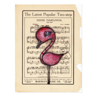 Dixie Flamingo Postcard