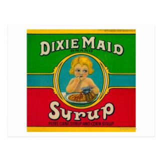 Dixie Maid Syrup LabelCairo, GA Postcard