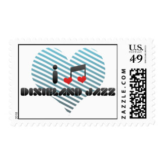Dixieland Jazz fan Stamps