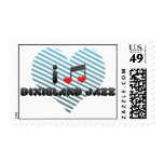 Dixieland Jazz fan Postage Stamps
