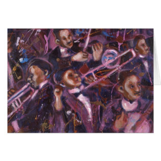 Dixieland Jazz Greeting Card