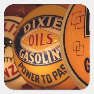 Dixon New México Estados Unidos Vintage Pegatinas Cuadradas