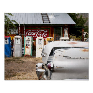 Dixon, New Mexico, United States. Vintage car Poster