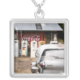 Dixon, New Mexico, United States. Vintage car Silver Plated Necklace