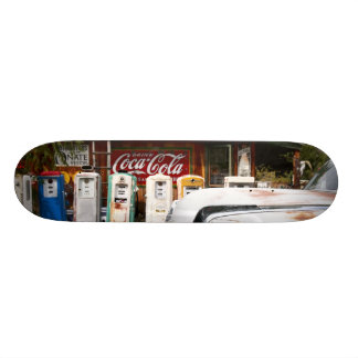 Dixon, New Mexico, United States. Vintage car Skateboard Deck