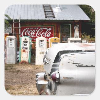 Dixon, New Mexico, United States. Vintage car Square Stickers