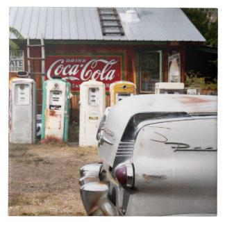Dixon, New Mexico, United States. Vintage car Tile