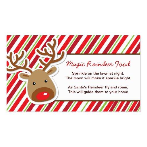 DIY - 100 Whimsical Magic Reindeer Food Tags Business Card | Zazzle